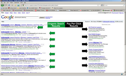 Google Organic Search Results Compared to Paid Search Results
