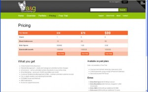 a&g offers an affordable all-in-one online business solution, with prices ranging from $59-$99 a month